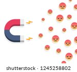 magnet and angry customers | Shutterstock .eps vector #1245258802
