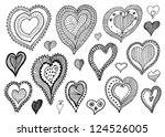 collection of hand drawn... | Shutterstock .eps vector #124526005