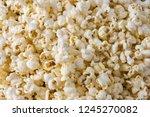 popcorn  roasted popcorn. fast... | Shutterstock . vector #1245270082