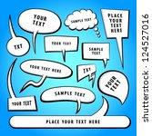 vector doodle speech bubbles. | Shutterstock .eps vector #124527016