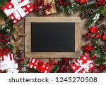 christmas decoration with...   Shutterstock . vector #1245270508