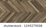 Stock photo seamless wood parquet texture horizontal herringbone gray 1245275038