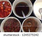thai garnish for noodles   Shutterstock . vector #1245275242