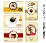 coffee tea and cakes menu or...   Shutterstock .eps vector #124528978