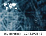 connecting ideas across the... | Shutterstock . vector #1245293548