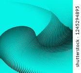 bright geometric aquamarine... | Shutterstock .eps vector #1245294895