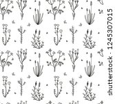 seamless pattern of hand drawn... | Shutterstock .eps vector #1245307015