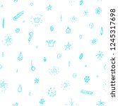 collection of blue christmas... | Shutterstock .eps vector #1245317698