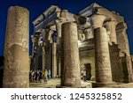 tourists visiting the temple of ... | Shutterstock . vector #1245325852
