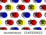 seamless pattern of eye and... | Shutterstock .eps vector #1245335422