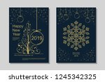new year greeting card design... | Shutterstock .eps vector #1245342325