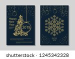 new year greeting card design...   Shutterstock .eps vector #1245342328
