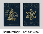 new year greeting card design... | Shutterstock .eps vector #1245342352