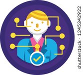 flat vector icon of candidate... | Shutterstock .eps vector #1245342922