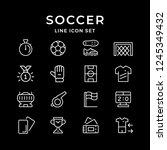 set line icons of soccer | Shutterstock .eps vector #1245349432