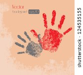 hand prints   isolated on... | Shutterstock .eps vector #124535155