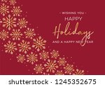 happy holidays and happy new... | Shutterstock .eps vector #1245352675