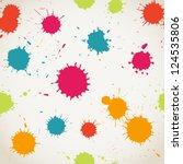 spray paint  watercolor... | Shutterstock .eps vector #124535806