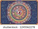 vector astrological fortune... | Shutterstock .eps vector #1245362278