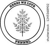 fennel herb pixel perfect logo... | Shutterstock .eps vector #1245368902
