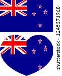 new zealand flag  country of... | Shutterstock .eps vector #1245371968