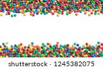 double border of colorful... | Shutterstock . vector #1245382075