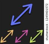resize arrow icon in multicolor....