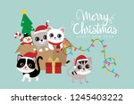 merry christmas and happy new...   Shutterstock .eps vector #1245403222