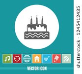 very useful vector icon of cake ...