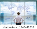 global business network with... | Shutterstock . vector #1245412618