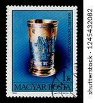 hungary   circa 1984  a postage ... | Shutterstock . vector #1245432082