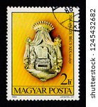 hungary   circa 1984  a postage ... | Shutterstock . vector #1245432682