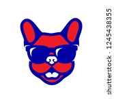 french bulldog wearing... | Shutterstock .eps vector #1245438355
