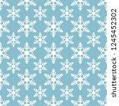 white snowflakes seamless... | Shutterstock .eps vector #1245452302