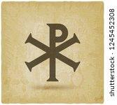 chi rho christian symbol... | Shutterstock .eps vector #1245452308