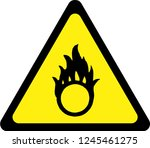 warning sign with oxidising... | Shutterstock . vector #1245461275