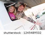 married middle aged couple... | Shutterstock . vector #1245489532