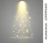 the spotlight shines on the... | Shutterstock .eps vector #1245491665