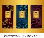 set templates for package from...   Shutterstock .eps vector #1245495718