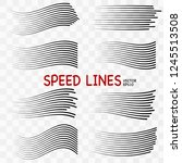 speed lines isolated. set of... | Shutterstock .eps vector #1245513508