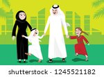 arab family middle east | Shutterstock .eps vector #1245521182