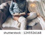 cold autumn or winter weekend... | Shutterstock . vector #1245526168