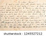 old unreadable handwritten text | Shutterstock . vector #1245527212