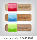 vector one two three steps old... | Shutterstock .eps vector #124555102