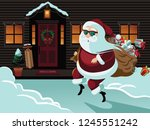 secret santa design with... | Shutterstock .eps vector #1245551242