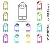 phone internet icon in multi...