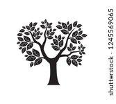 vector tree simple silhouette... | Shutterstock .eps vector #1245569065