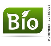 green bio food or product icon... | Shutterstock . vector #124557316