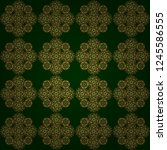 ornate decor for invitations ... | Shutterstock .eps vector #1245586555