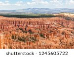 bryce canyon national park has... | Shutterstock . vector #1245605722